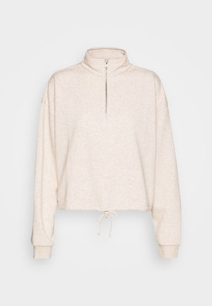 HALF ZIP CREW - Sweater - oatmeal marle