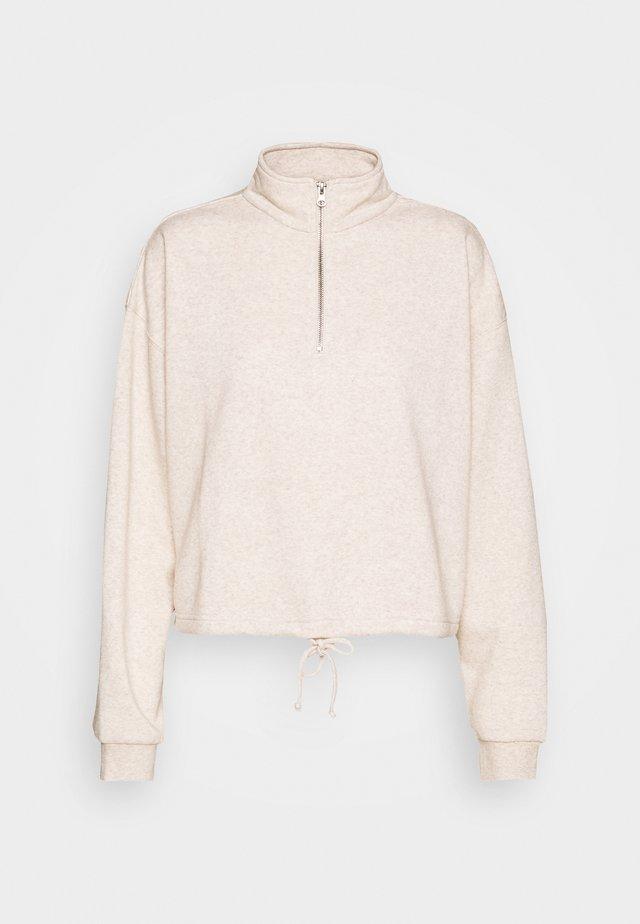 HALF ZIP CREW - Sweater - oatmeal marle