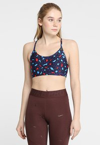 Cotton On Body - WORKOUT YOGA CROP - Sport BH - painted leopard navy - 0