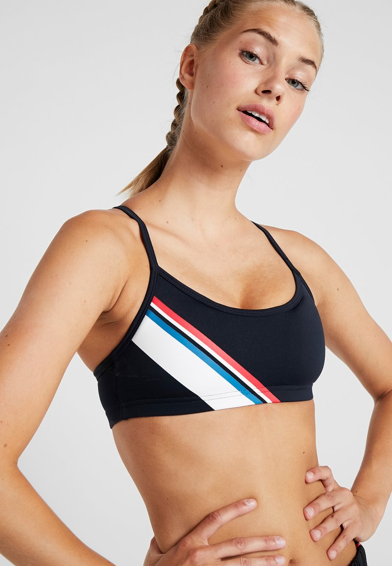 Cotton On Body - WORKOUT YOGA CROP  - Sport BH - navy/ red/white