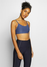 Cotton On Body - WORKOUT YOGA CROP - Sport BH - storm blue - 0