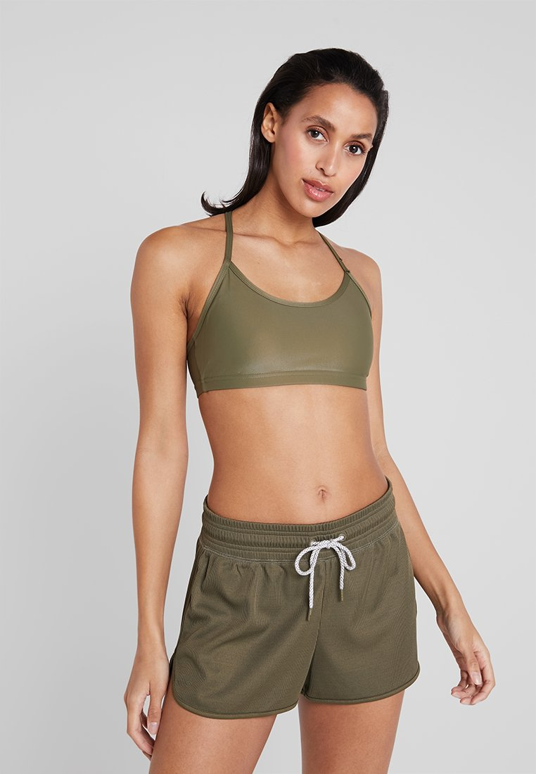 Cotton On Body - WORKOUT YOGA CROP - Sport BH - thyme shimmer