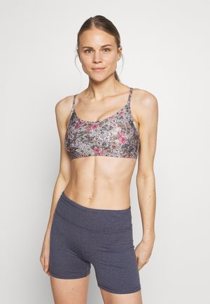 WORKOUT YOGA CROP - Sport BH - steely shadow