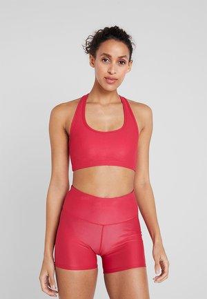 WORKOUT CARDIO CROP - Sports bra - shimmer cyber pink
