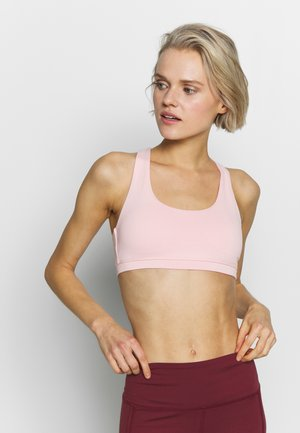 STRAPPY CROP - Sports bra - pink cameo marle