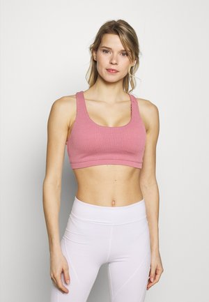 STRAPPY CROP - Sport BH - washed rose texture