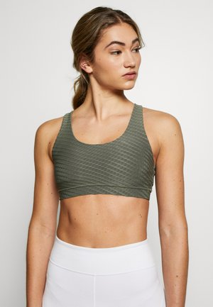 STRAPPY CROP - Sujetador deportivo - steely shadow