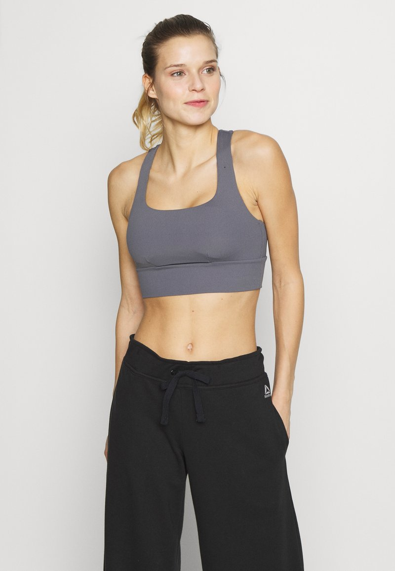 Cotton On Body - CUT OUT CROP - Sports bra - dark grey