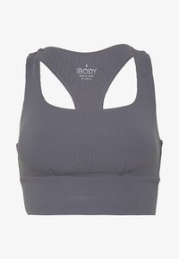 Cotton On Body - CUT OUT CROP - Sports bra - dark grey - 3
