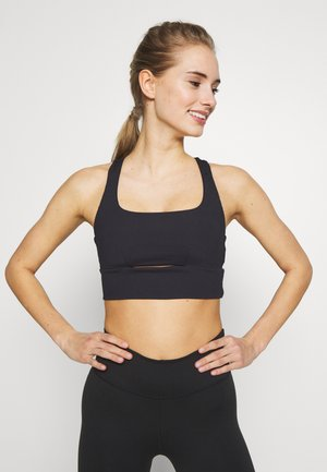 CUT OUT CROP - Urheiluliivit - black