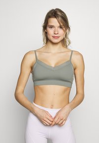 Cotton On Body - BINDED CROP - Sport BH - steely shadow - 0