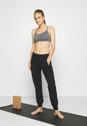 YOGA CROP 2 PACK - Urheiluliivit - salt & pepper/washed aloe