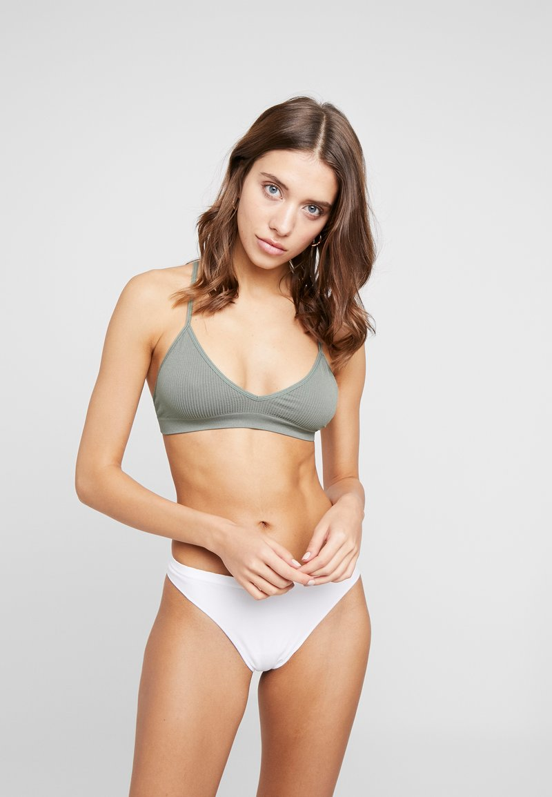 Cotton On Body - SEAMFREE BRALETTE 2PACK - Soutien-gorge triangle - cool avocado/bright orchid