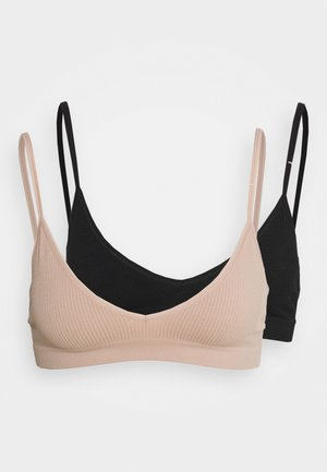 SEAMFREE BRALETTE 2 PACK - Brassière - black/new latte
