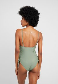 Cotton On Body - STRAIGHT NECK GATHERED ONE PIECE FULL - Maillot de bain - cool avocado - 2