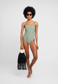 Cotton On Body - STRAIGHT NECK GATHERED ONE PIECE FULL - Baddräkt - cool avocado - 1
