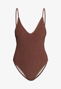 Cotton On Body - SHIRRED DEEP V ONE PIECE CHEEKY - Maillot de bain - rust - 3