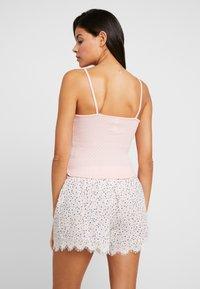 Cotton On Body - POINTELLE TANK TRIM SHORT SET - Piżama - soft cameo pink marle/tossed white - 2