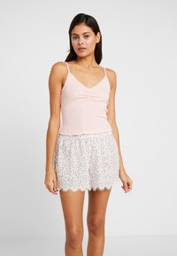 Cotton On Body - POINTELLE TANK TRIM SHORT SET - Piżama - soft cameo pink marle/tossed white - 1