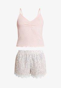 Cotton On Body - POINTELLE TANK TRIM SHORT SET - Piżama - soft cameo pink marle/tossed white - 4