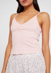 Cotton On Body - POINTELLE TANK TRIM SHORT SET - Piżama - soft cameo pink marle/tossed white - 5