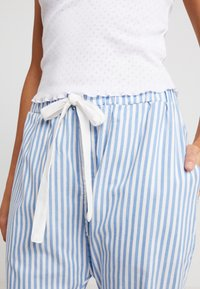 Cotton On Body - POINTELLE TANK DROP CROTCH PANT SET - Pyjamaser - white/silver lake blue - 5
