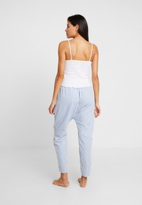 Cotton On Body - POINTELLE TANK DROP CROTCH PANT SET - Pyjamaser - white/silver lake blue - 2