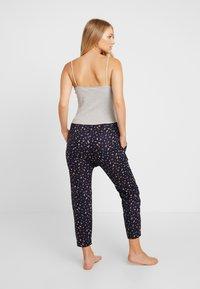 Cotton On Body - POINTELLE TANK DROP CROTCH PANT SET - Pyjamaser - grey marle/navy - 2