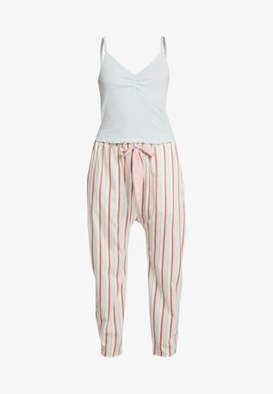POINTELLE TANK DROP CROTCH PANT SET - Pyžamo - blue chalk/multi