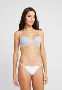 Cotton On Body - FLAT ELASTIC BRIEF 3PACK - Thong - white - 0