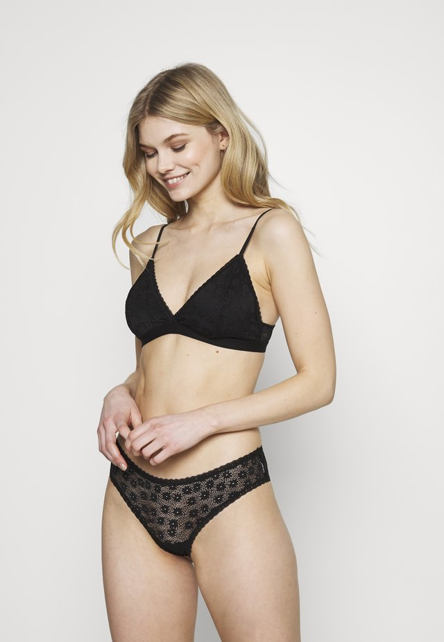 DAISY BRALETTE AND BRASILIANO SET - Trusser - black