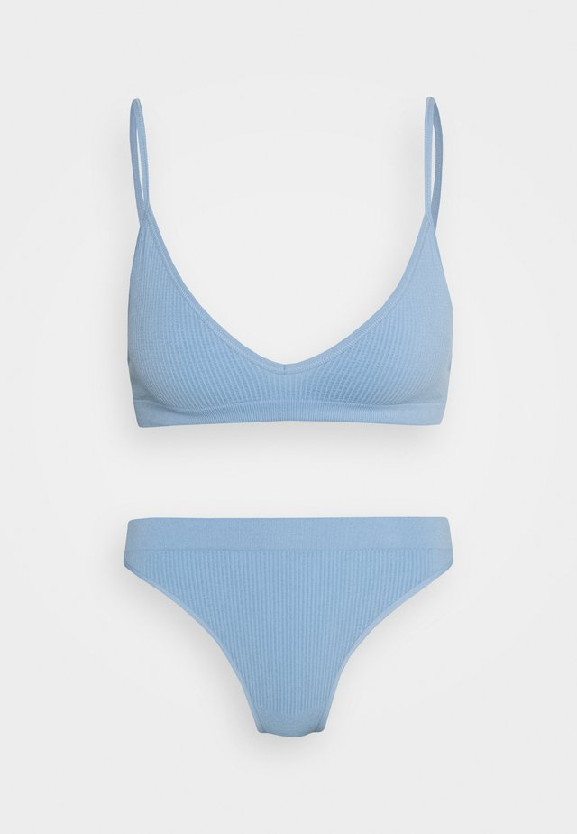 SEAMFREE TRIANGLE BRALETTE BRASILIANO SET - Ondergoedset - skyway blue