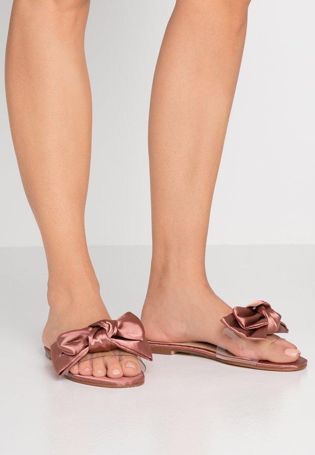 Pantolette flach - blush