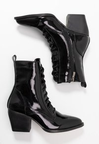 co wren - Lace-up ankle boots - black crush - 3