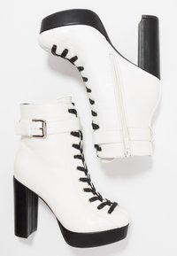 co wren - High heeled ankle boots - white - 3