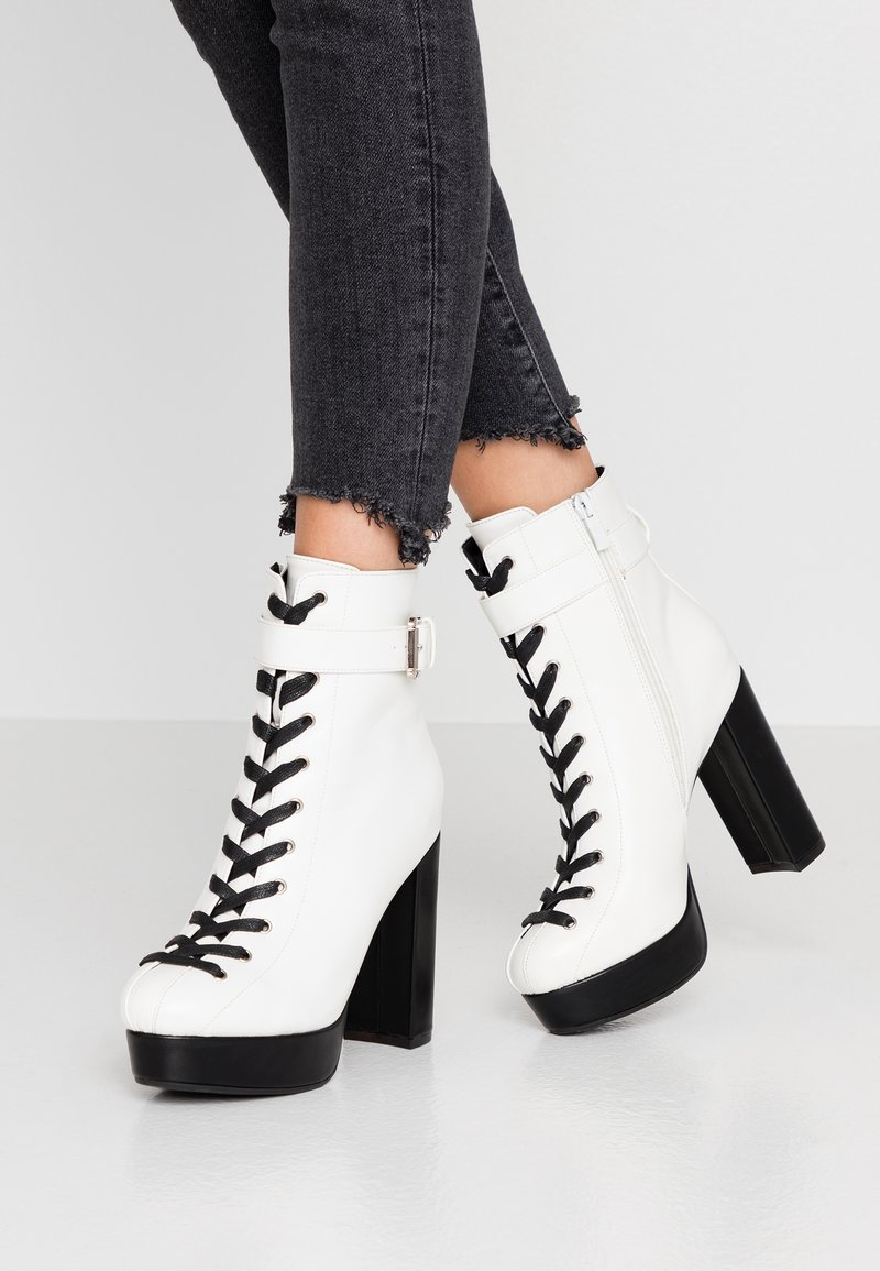 co wren - High heeled ankle boots - white