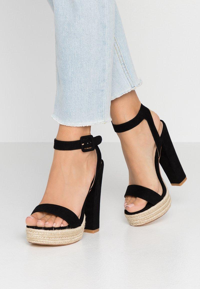 co wren wide fit - High heeled sandals - black
