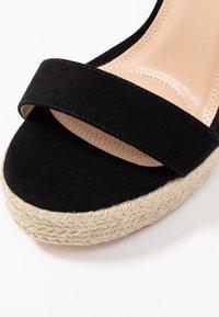 co wren wide fit - High heeled sandals - black - 2