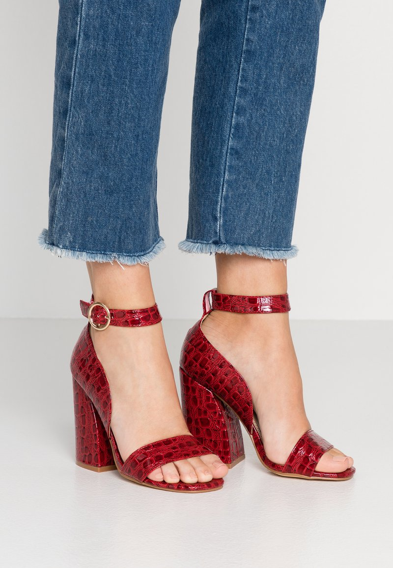 co wren wide fit - High heeled sandals - red