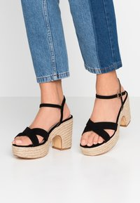 co wren wide fit - High heeled sandals - black - 0