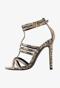 co wren wide fit - Sandály na vysokém podpatku - beige - 1