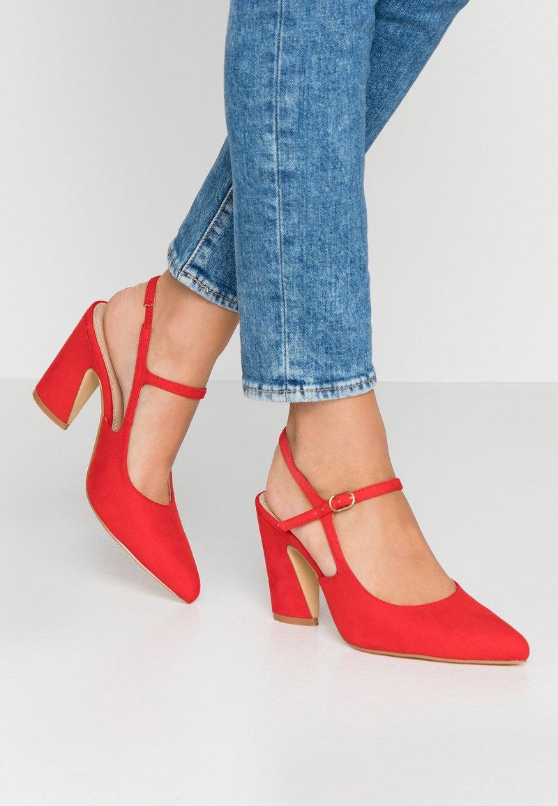 co wren wide fit - High Heel Pumps - red