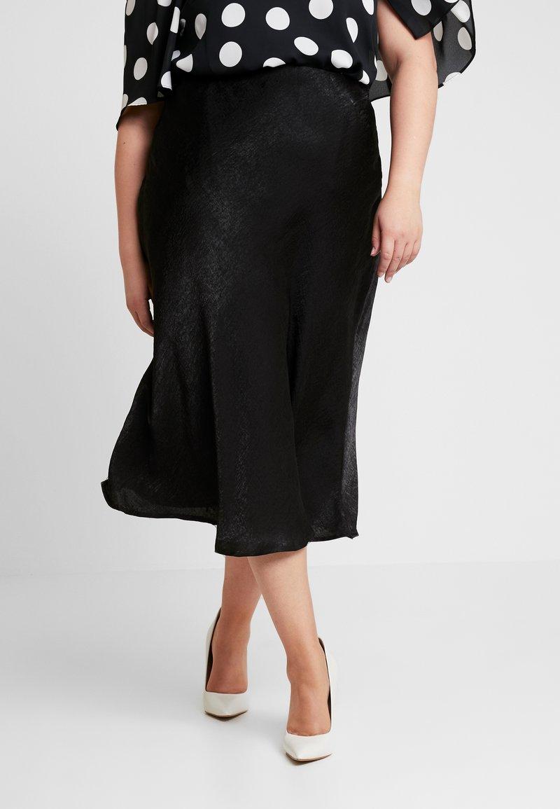 Cotton On Curve - DRAPE SKIRT - Pennkjol - black