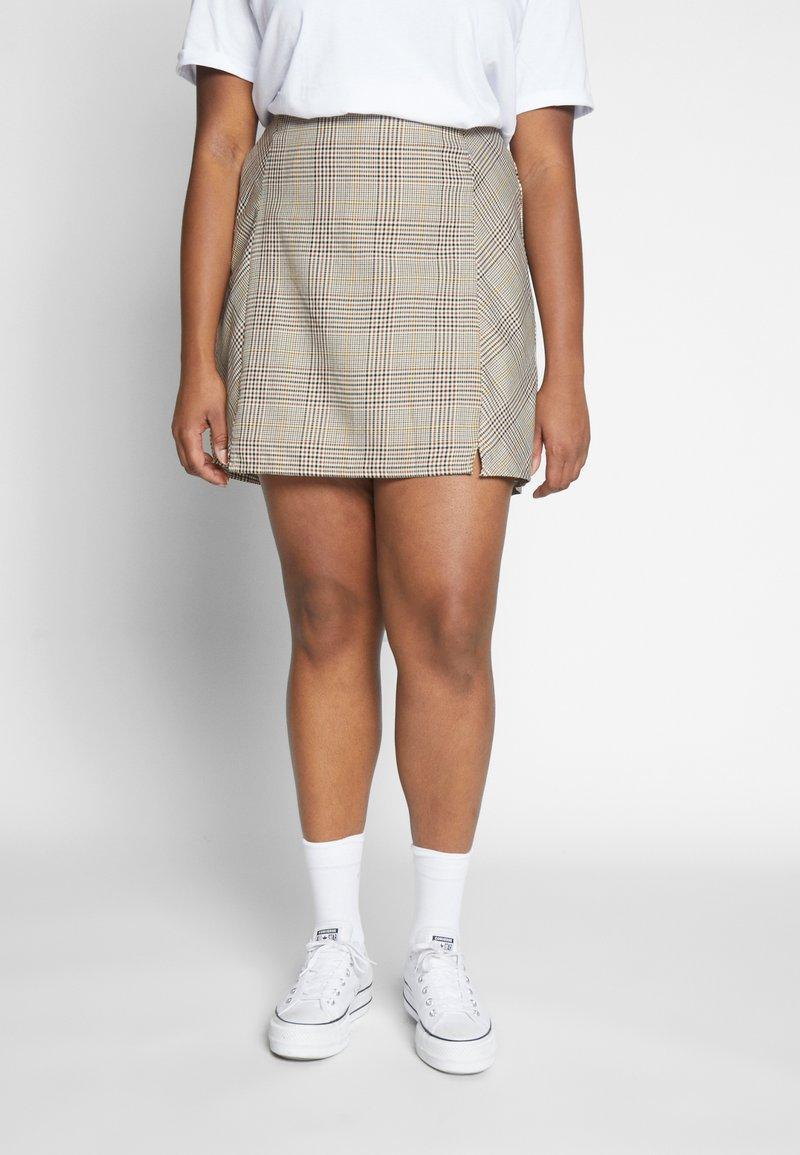 Cotton On Curve - ASPEN CHECK MINI SKIRT - Mini skirt - sarah tortoise