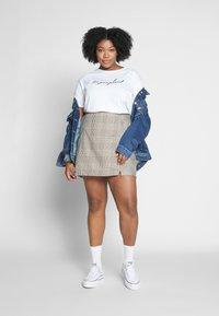 Cotton On Curve - ASPEN CHECK MINI SKIRT - Mini skirt - sarah tortoise - 1