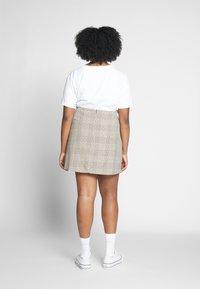 Cotton On Curve - ASPEN CHECK MINI SKIRT - Mini skirt - sarah tortoise - 2
