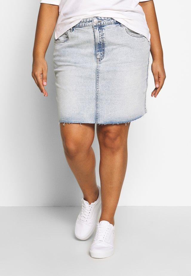 SKIRT - Spódnica jeansowa - bowie blue acid