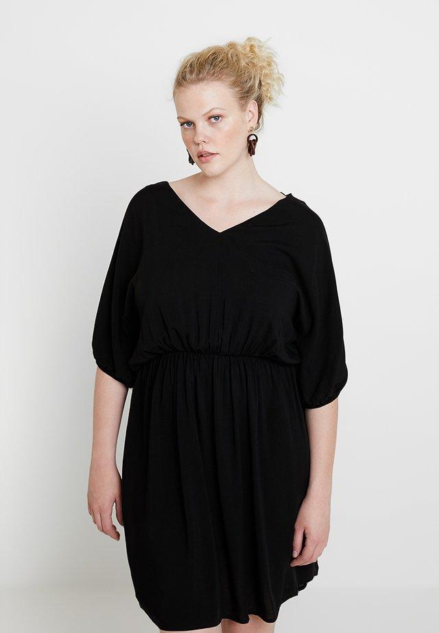 GATHERED WAIST DRESS - Day dress - black