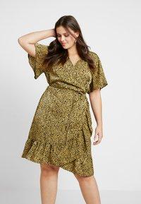 Cotton On Curve - WRAP DRESS - Day dress - light olive/black - 0