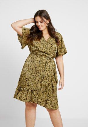 WRAP DRESS - Denní šaty - light olive/black